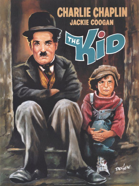 Movie poster for The Kid, starring Charlie Chaplain
