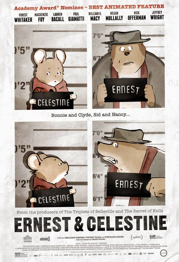 Movie poster of Ernest & Celestine