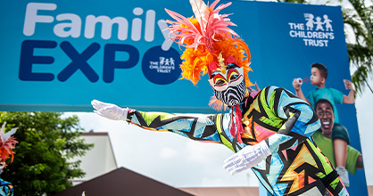 Stiltwalkers, popular characters, activities and more at the Family Expo.