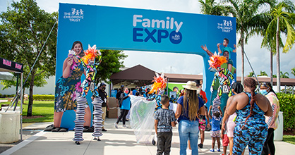 Families enter the 2021 Family Expo in South Dade.