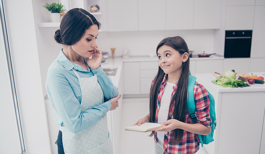 A daughter asks a question of her mother which is hard to answer.