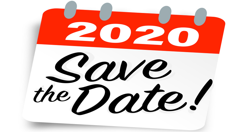Save these dates in 2020.