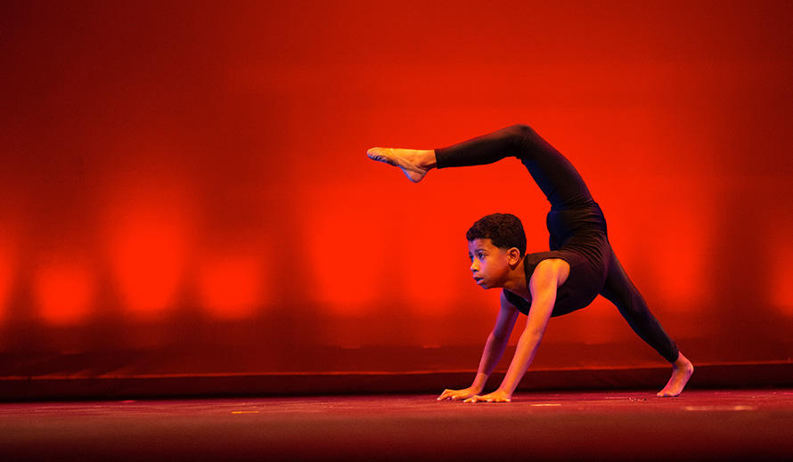 A young dancer participates in Young Talent Big Dreams.