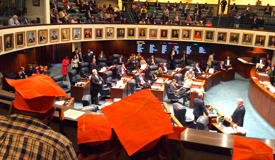 Teens advocating in the Florida State House of Representatives