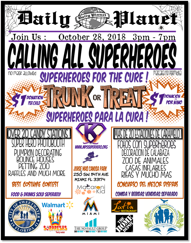 Super Hero For The Cause Trunk Or Treat Event The