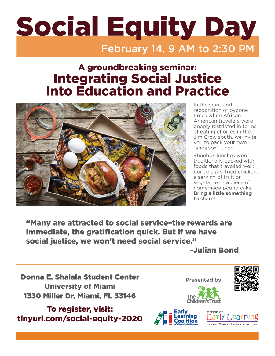 A groundbreaking seminar: Integrating Social Justice into Education and Practice. To register, visit: tinyurl.com/social-equity-2020