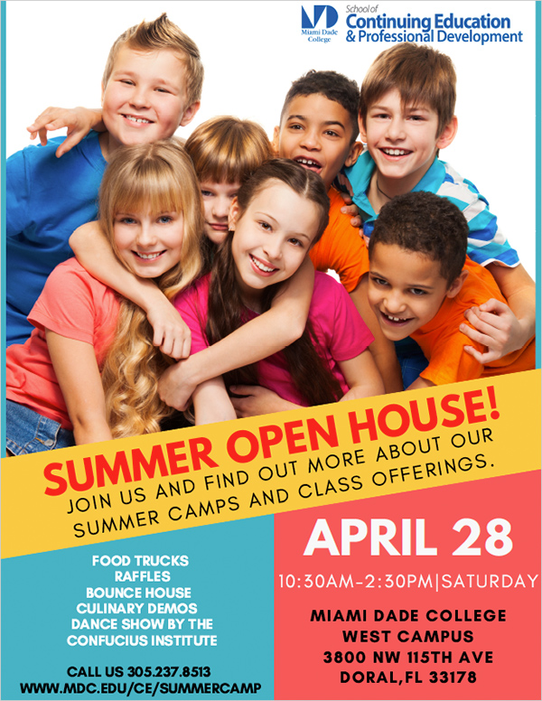 Summer Camp Open House - Miami Dade College West Campus