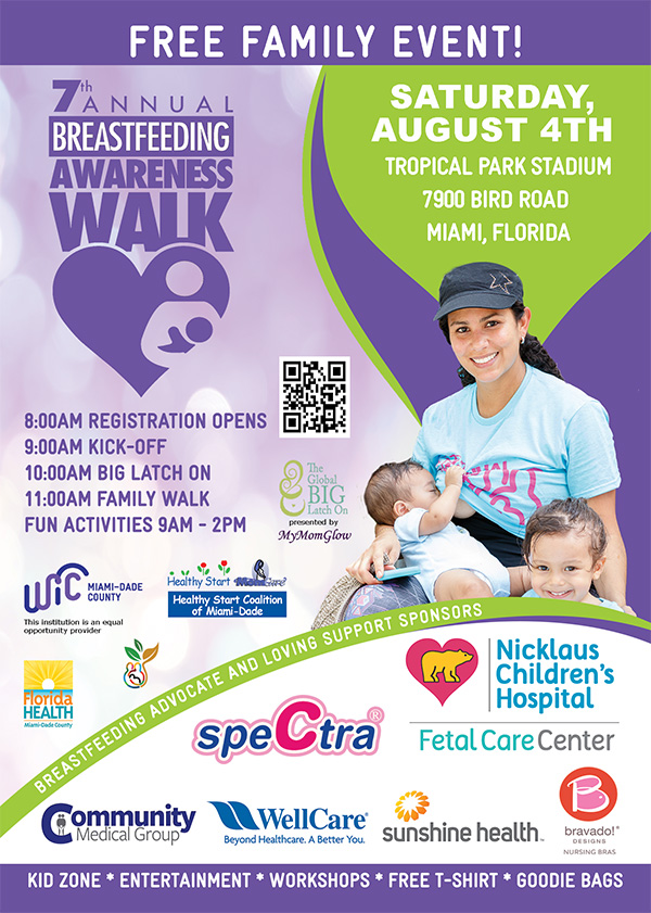 FREE FAMILY EVENT! 8:00AM REGISTRATION OPENS 9:00AM KICK-OFF 10:00AM BIG LATCH ON 11:00AM FAMILY WALK FUN ACTIVITIES 9AM - 2PM FREE! REGISTER NOW 7thannualbfwalk.eventbrite.com Entertainment, Kid Zone, Raffles, Workshops