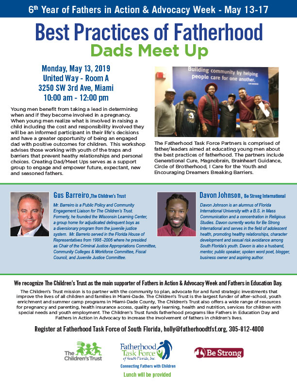 Best Practices of Fatherhood - Dads MeetUp