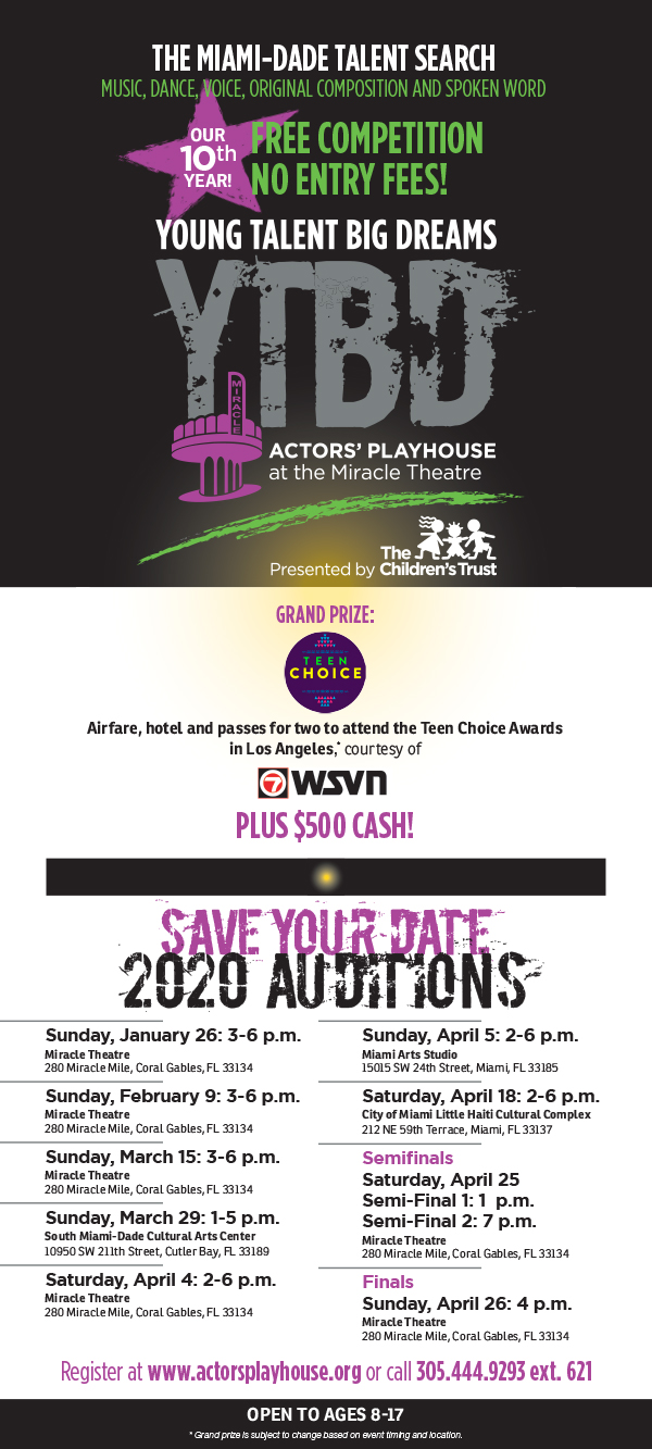 Young Talent Big Dreams Audition - Click here to register