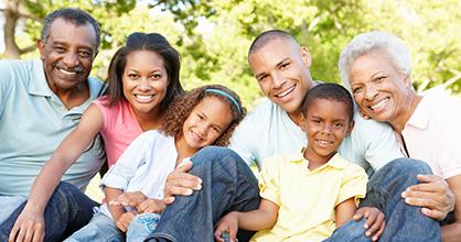 Happy multigenerational family