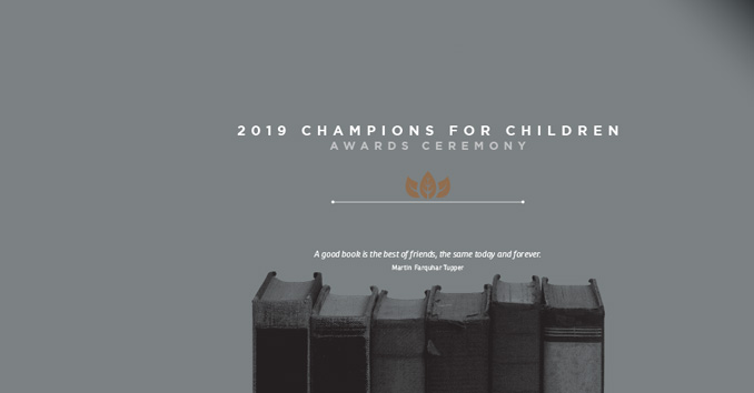 Champions for Children Awards Ceremony graphic