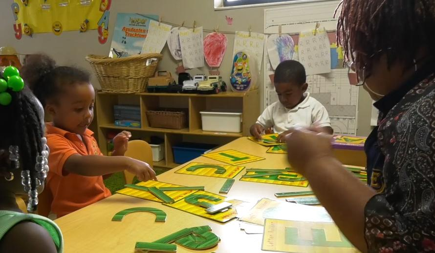 Child care reading class