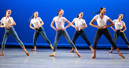 Dancers from the Thomas Armour Youth Ballet take part in a performance.