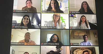 The eight summer interns at The Children's Trust held a special online presentation on Aug. 5.