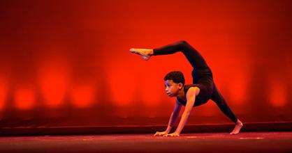 A young dancer participates in Young Talent Big Dreams.