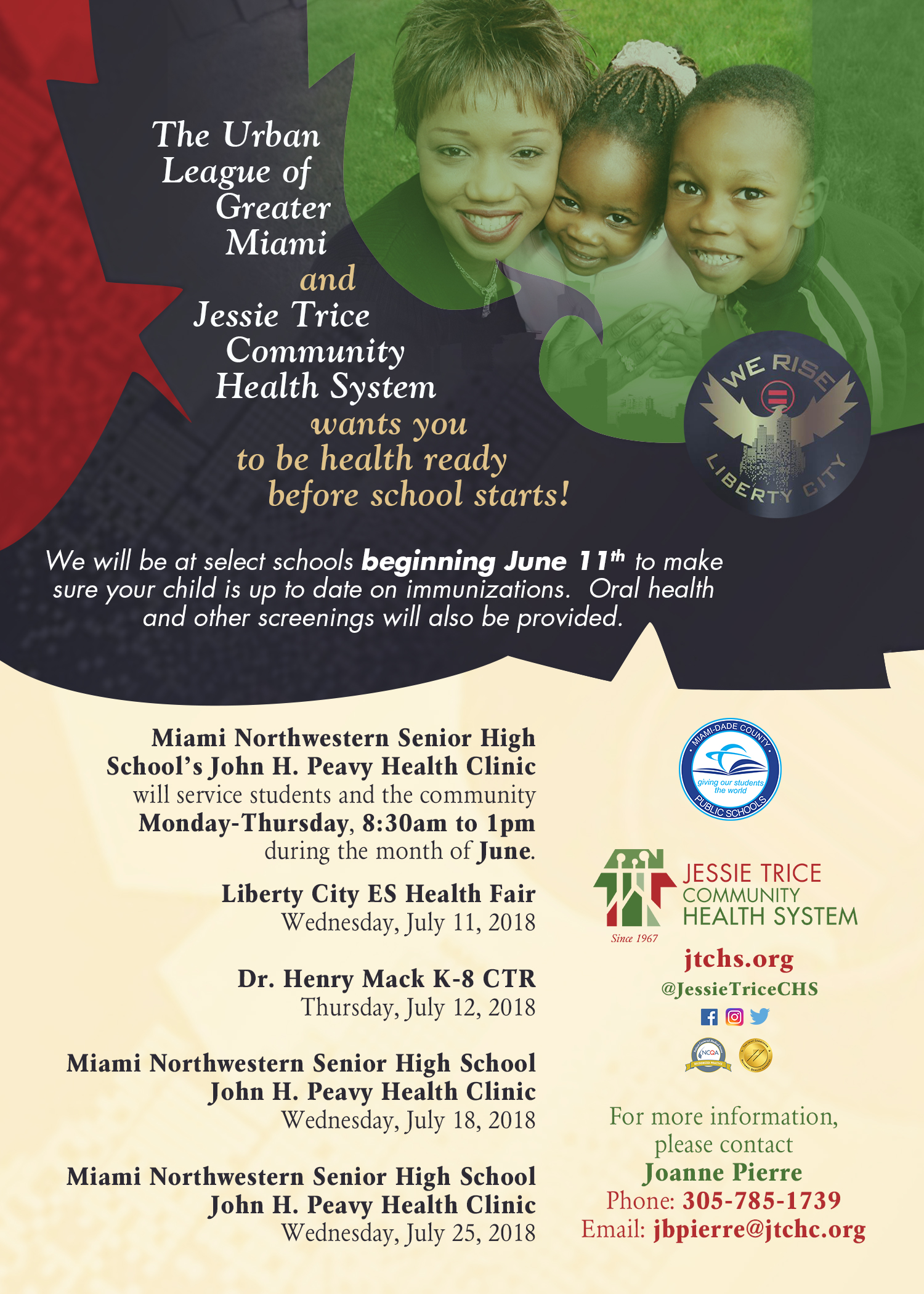 Urban League of Greater Miami and Jessie Trice Community Health System Back to School Fair